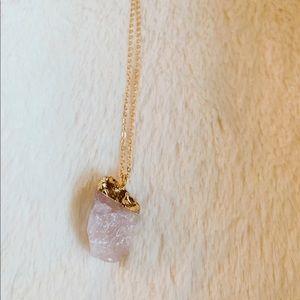 New quartz crystal necklace